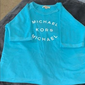 Light blue Michael kors elbow sleeve shirt